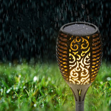 Landscape Lamps Solar Garden Outdoor Flame Effect Light