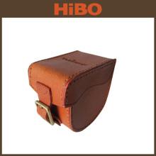 Tourbon top quality saddle leather fishing reel case