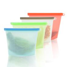 Bolsa de almacenamiento de alimentos de silicona reutilizable de nuevo diseño