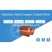 Factory ASTM 304 cheap price stainless steel copper coated wire