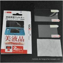 2in1 Top Bottom HD Clear Schutzfolie Oberflächenschutz Cover für Nintendo 3DS LCD Transparent Displayschutzfolie Haut
