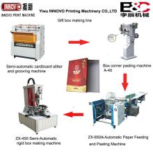 Semi-Automatic gift box making production line