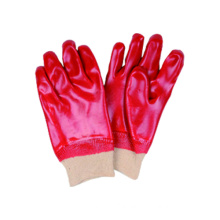 Interlock Liner Glove with PVC Fully Dipped, Knit Wrist, Industria Glove