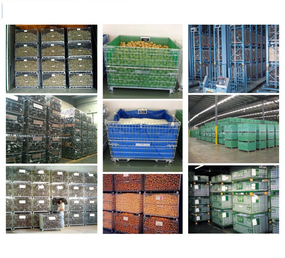 Collapsible Wire Pallet Cage