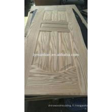 Peau de porte de placage de meubles de chambre à coucher sculpture sur bois