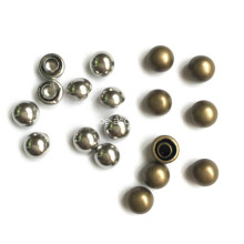 Silver Tone Dome Rivets Studs Round Buttons