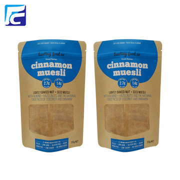 New Design Kraft Paper Bag With Clear Window