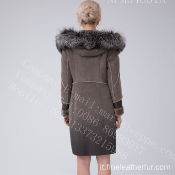 Lady Fur Coat In Winter
