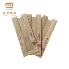 Wholesale Custom Color Printed Food Grade Packaging Multi Layer Greaseproof Brown Kraft Paper Sandwich Bags