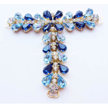 Embellished T Bar Sandals Trims; Blue Gem Stone T Bar Trims pour Sandales Femme