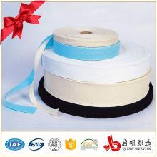 Ruban tissé coloré en coton polyester extensible