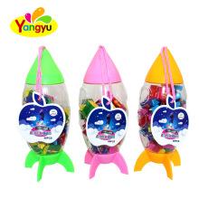 Rocket Bottle Packing Tutti-frutti bubble Honey Gum Factory