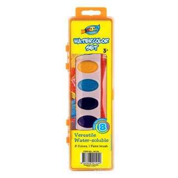 Gâteau de couleur de l'eau (feuille-solide) et jeu de crayon
