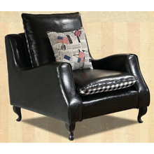 Black Color America Style Leather Sofa Chair (C021)