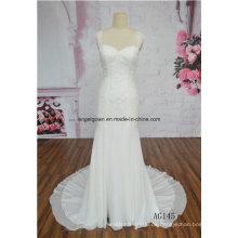 Neue Ankunft Mode Muster Meerjungfrau Braut Hochzeit Kleid Fabrik OEM
