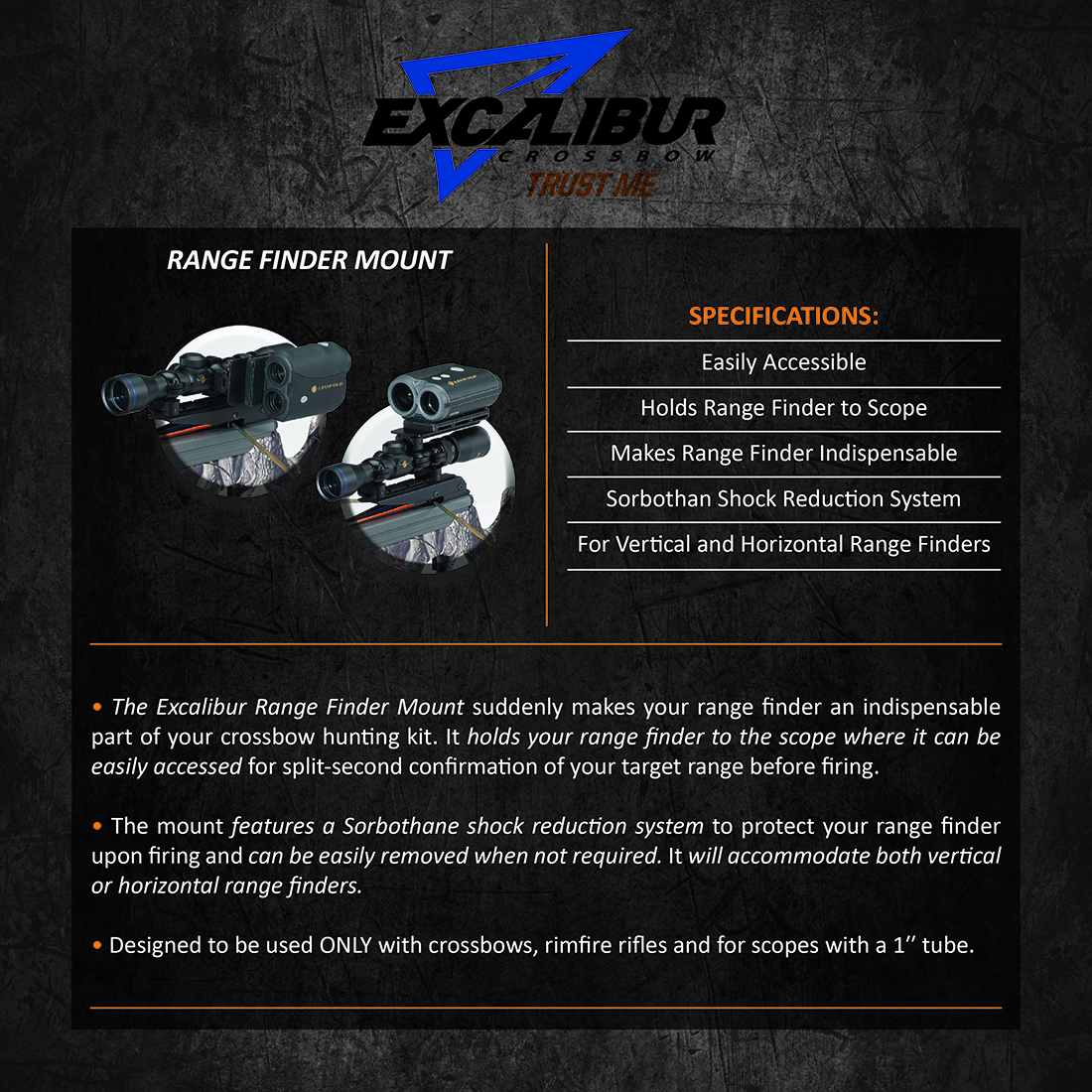 Excalibur_Range_Finder_Mount_Product_Description