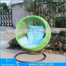 Cadeira de vime interna de vime do balanço do bastão à moda elegante com suporte para adultos