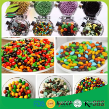 colorful sugar coated chocolate candy beans