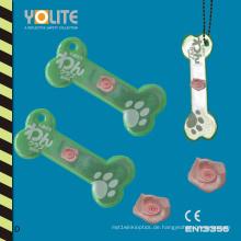 Reflektierende Hundeknochenaufhänger, weiche Reflektoren, reflektierende weiche Kleiderbügel, reflektierende Kleiderbügel mit CE En13356