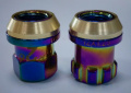 steel colorful lug nuts