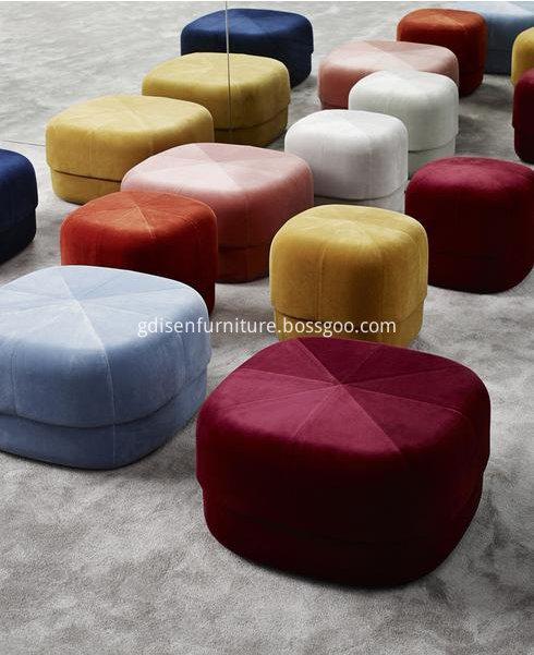Fabric small footstool