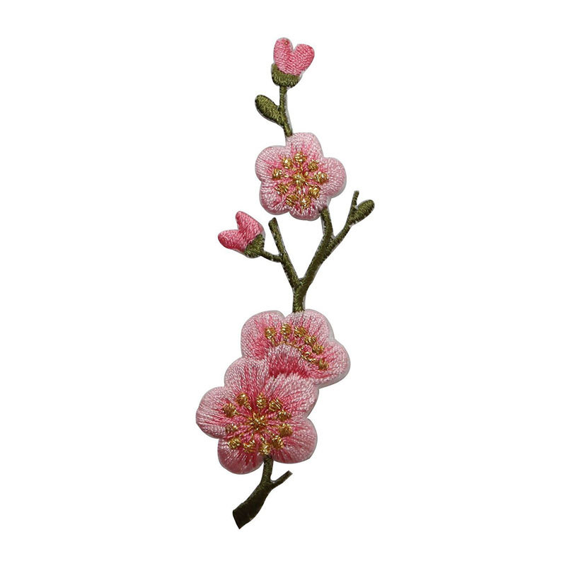 Pink Cherry Blossoms Buds Patch