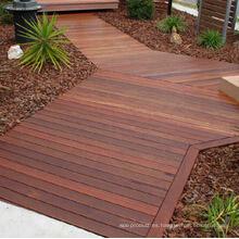 Piso de madera de la cubierta exterior de Merbau con el tratamiento del aceite de planta