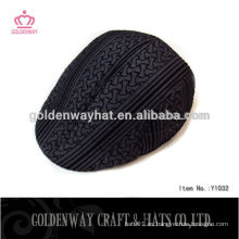 Sombrero negro de la hiedra del newsboy de los hombres