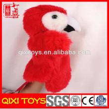 2014 la marioneta de mano más popular del loro de los productos hecha en China
