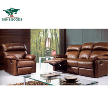 Sunsgoods Wooden Home Theater Seating Sofa Set Designs Manual Recliner Chair Furniture
