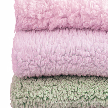 Dyed Sherpa Fleece Velvet Fabric