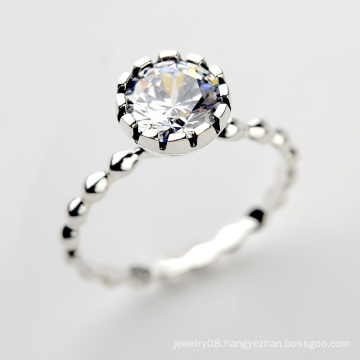 925 Sterling Silver Jewelry Wholesale new model retro 925 sterling silver diamond ring