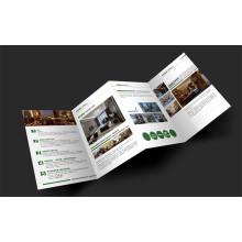 Impression dépliée de dépliant de brochure imprimée de brochure de catalogue