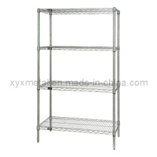 4-Tier Chrome Plated Wire Shelves Metal Display Rack