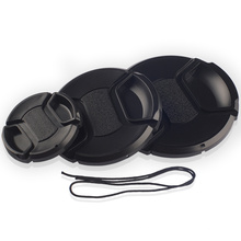 Mid Pinch Neutral Camera Lens Cap Protection Cover 49mm/52mm/55mm/58mm/62mm/67mm/72mm/77mm/ With Anti-lost Rope