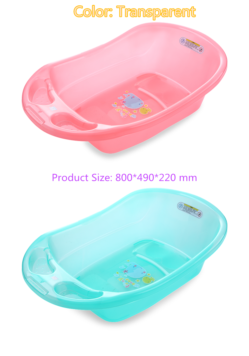 Plastic Transparent Bathtub