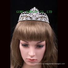 Мода дизайн Кристалл тиары блестящей горный хрусталь короны