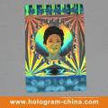 Etiqueta de holograma láser 3D Anti-Fake de seguridad plateada