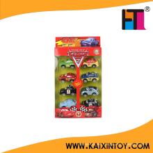 Günstige Plasic Mini Pull Auto Spielzeug mit 8 verschiedenen Design