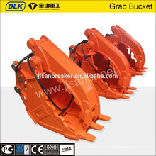 excavator hydraulic grab bucket, clamp bucket suit for all excavator
