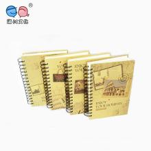 Material de escritório Kraft Paper Cover A5 Spiral Paper Notebook (NP (A5) -X-192P-0004)