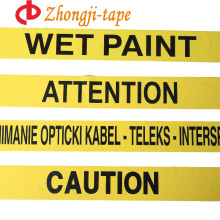 Crime scenes use non adhesive yellow pe warning tape
