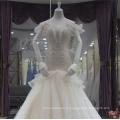 2018 элегантный V-образным вырезом кружева русалка свадебное платье свадебное платье с тяжелыми бисером