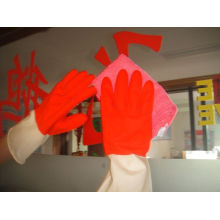 Window Cleaning Natural Household Colored Latex Gloves With Diamond Grip