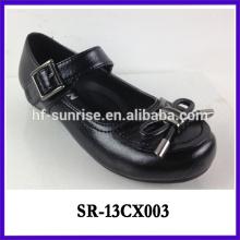 Schwarze flache Student Mädchen stilvolle Schuhe Mädchen formale Schuhe Kinder Leder Schule Schuhe