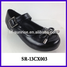 black flat student girls stylish shoes girls formal shoes children leather school shoes