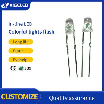 Granos de lámpara de infrarrojos de alta potencia de 3 mm de colores intermitentes rápidos