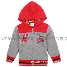 Red cartoon car Allover printed  very popular hooded boy jacket A4453