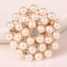 bridal crystal pearl diamante brooches