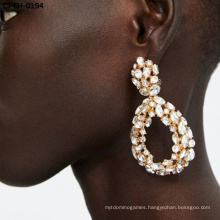 Cheapest Product Diamond - Encrusted Alloy Drop Earrings